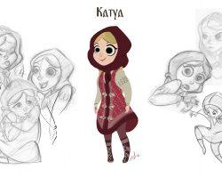 concept art character design russian girl